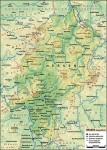 Topographische Karte von Hessen. Author: Lencer, November 2013.