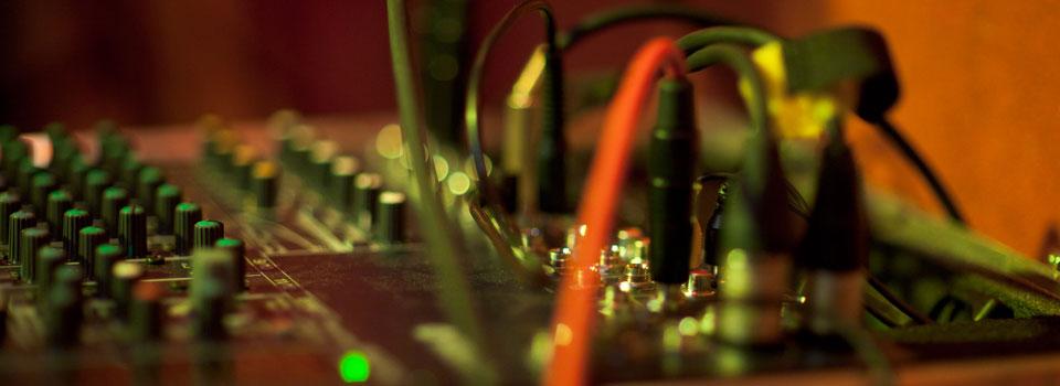 Mischpult der PlugAndPlay-Band.